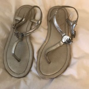 Ralph Lauren silver sandals. Used,good condition.